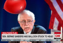 Bernie Sanders Appears on CNN with Balloon Stuck to Head